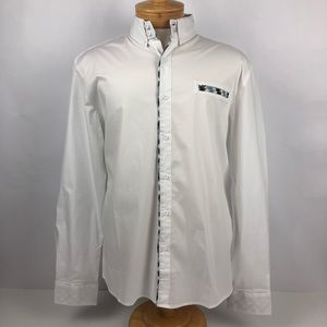 NWT TAM WARE Men's Dress Shirt Size XL White